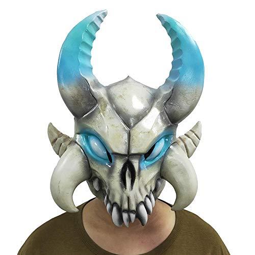 XIAOMING - Máscara de látex para Cosplay, diseño de Huesos de Ganado, para Halloween