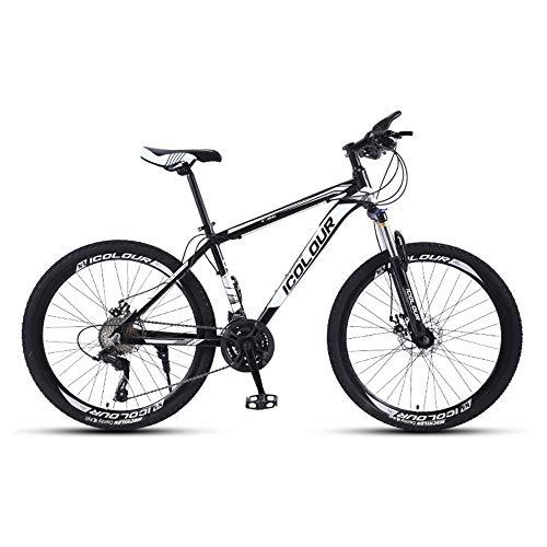 Bicicleta, Bicicleta de montaña de 26 pulgadas, Bicicleta con freno de disco doble de 30 velocidades, Con marco de aleación de aluminio, Para adultos y adolescentes, Puede adaptarse a varios terr