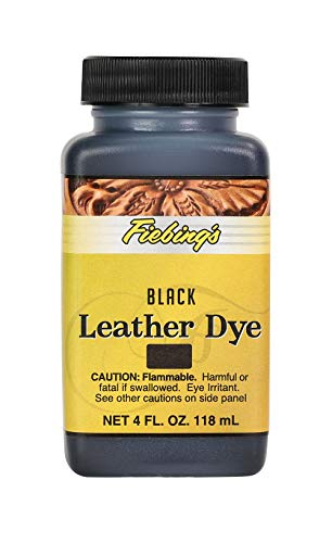 Fiebing's Leather Dye - Alcohol Based Permanent Leather Dye - 4 oz - Black