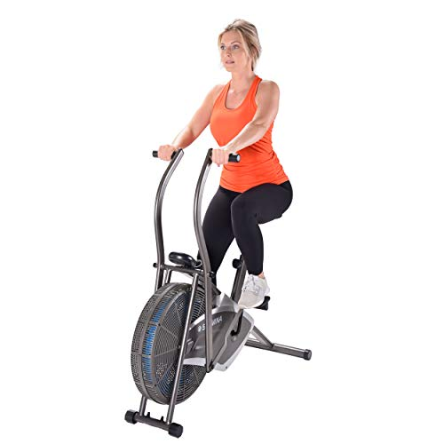 Product Image 2: Stamina Air Resistance Exercise Bike 876, Silver, Gray
