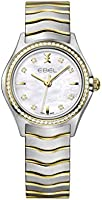 Ebel ladies 1216351 wave 18k gold & steel swiss quartz watch