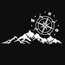Compass Mountains Car-Styling SUV Off-Road Reflective Decals Sticker Decoration - White