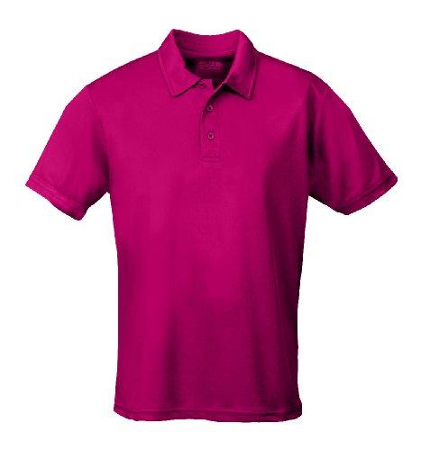 Just Cool - Performance - Performance Polo Shirt, atmungsaktiv, Shirt, atmungsaktiv, XXL,Hot Pink