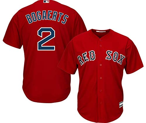 Xander Bogaerts Boston Red Sox MLB Boys Youth 8-20 Player Jersey (Red Alternate, Youth Medium 10-12)