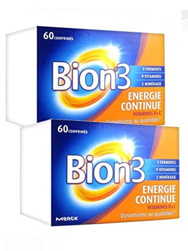 Bion 3 - Energie Continue 60 Comprimes Bion 3 - Lot de 2 Boites de 60 Comprimés (2E)