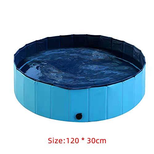 TOPmountain Faltbares Kinderschwimmbecken - Hundebad - Faltbecken für Kinder, Haustiere, Hunde, Katzen - Faltbare Kinderbecken - 120 x 30 cm