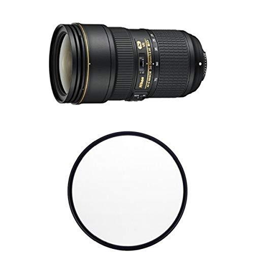 Nikon AF-S FX NIKKOR 24-70mm f/2.8E ED VR Zoom Lens with Auto Focus for Nikon DSLR Cameras w/ B+W 82mm Clear UV Haze with Multi-Resistant Coating