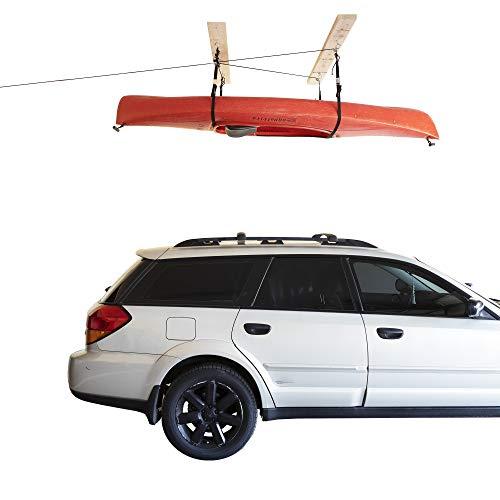 HARKEN - Kayak Overhead Garage Storage Hoist, Self-Leveling, Safe Anti-Drop...