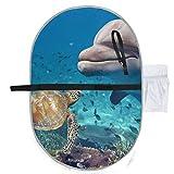Ozean Meer Tier Schildkröte Delphin Fisch Mädchen Wickelauflage Kompakte Windelmatte 27x10 Zoll Wasserdichte Faltbare Matte Tragbare Wickelstation Reise Wickelauflage