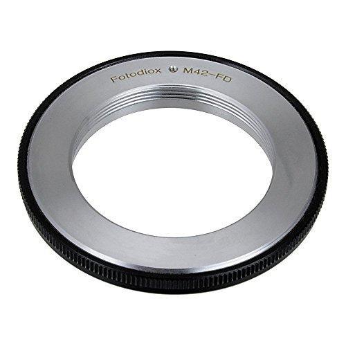 Adaptador de montura de lente Fotodiox Pro, M42 (42 mm x1 rosca) de objetivos Canon FD de cámaras de fotos de soporte. Compatible con Canon F-1, FTb, FTbn, EF, TLb, TX, F-1N, AE-1, AT-1, A-1, AV-1, New F-1, AE-1 más, AL-1, T50, T70, T80, T90, T60