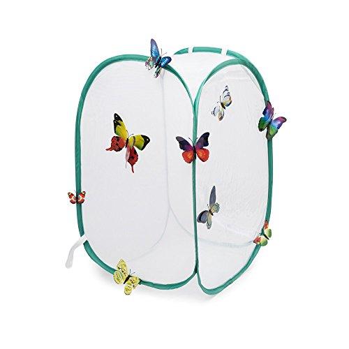 Hyindoor Gabbia per insetti Gabbia per farfalle Habitat Gabbia di protezione anti-pop-up pieghevole per terrari , 40 x 40 x 60 cm