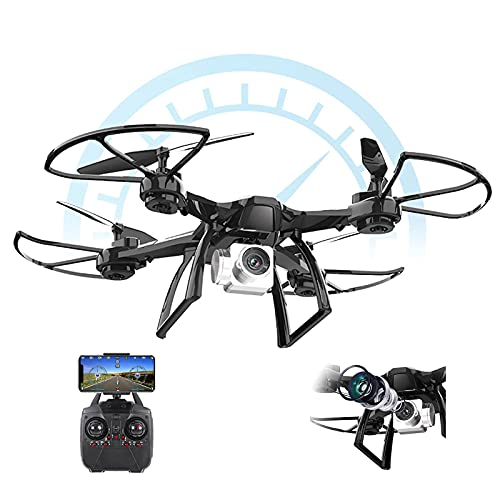 WECDS Drone HD, quadricottero RC Pieghevole, Mantenimento dell'altitudine, Ritorno con Una Chiave, fissazione Intelligente dell'altezza e Volo stazionario per Principianti