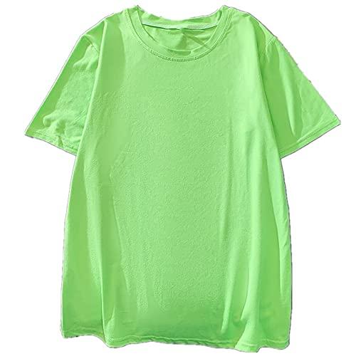 camiseta de manga corta sólida de las mujeres de verano oversize top