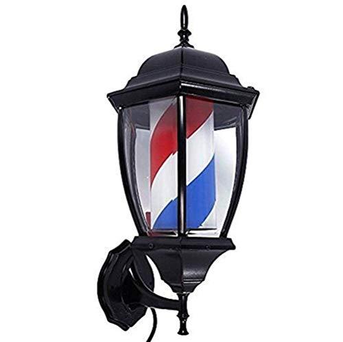 Beckye Led Barbierstab Leuchtkugel Barber Pole Friseur Salon Licht Schild Rotierend Friseur Pole Lampe Rot Weiß Blaue Streifen wasserdichte Wandleuchte,49cm/19in / C