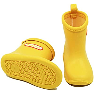 Baby Infant Toddler Wellies Wellington Non-Slip Rain Boots PVC Rain Shoes for 1-6 Years Old