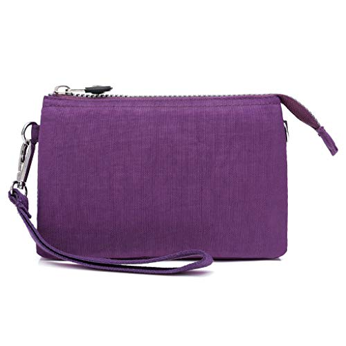 Find Cheap Women Crossbody Bag 2pcs Set Multi Pocket Nylon Shoulder Bag Handbags Matching Wallet