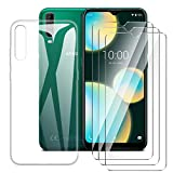 LJSM Case for Wiko View 4 Lite + [3 Pieces] Tempered Film
