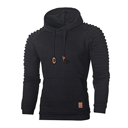 Sweat à Capuche Cotton Manche Longue Homme Soldes Tee Top Plaid Outwear Sweatshirts Hoodie Sport Hommes Hooded Pullover Pulls Grande Taille