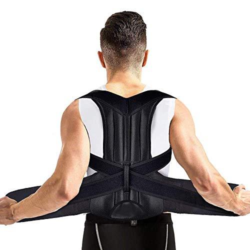 """Corrector de Postura Espalda, MS.DEAR Cinturón Postura Ajustables Corrección Lumbar Apoyo para Hombres/Mujer, Enderezador de Espalda, Aliviar el dolor de Espalda y Hombro - Cintura 29.5""""- 37.5"""", M"""
