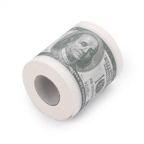 Money Toilet Paper $100 Bill Toilet Paper