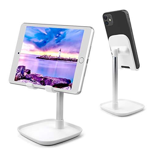 AUCHIKU Tablet Halter, Winkelhöhe Verstellbar Handyhalter Tisch Ständer, Tablet Halterung Handy Halter Desktop Ständer kompatibel mit iPad Air/iPad Mini/Huawei MediaPad P30/Galaxy Tab/Handy usw