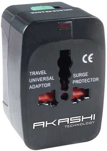 Akashi Paris - Adaptateur Universel Prises Anglaises / Europe / US / Australie avec Deux Ports USBs - 150 Pays
