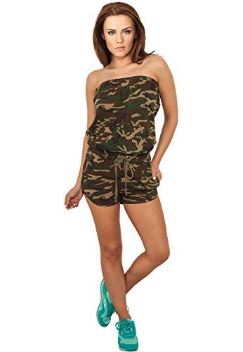 Urban Classics Ladies Camo Hot Jumpsuit TB735, Größe:L;Farbe:wood camo-00396
