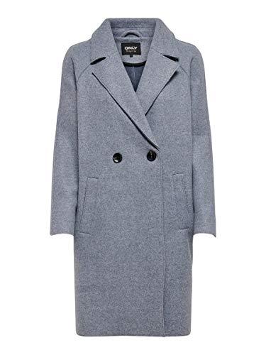 ONLY Damen Jacke Kurzmantel ONLBerna meliert 15205351 Vintage Indigo Melange M