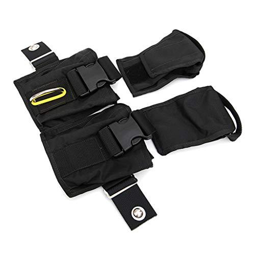 JLZK Sicherheit Tauchen Wight Tasche Cargo-Tasche-Beutel-Halter Taschenbleigurt schwarz for Backplate Berg Präzision (Color : Black)