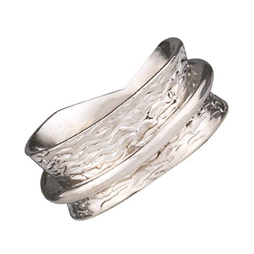 Energy Stone Semplicità - Anello girevole di meditazione in argento sterling (modello UK63) (27)