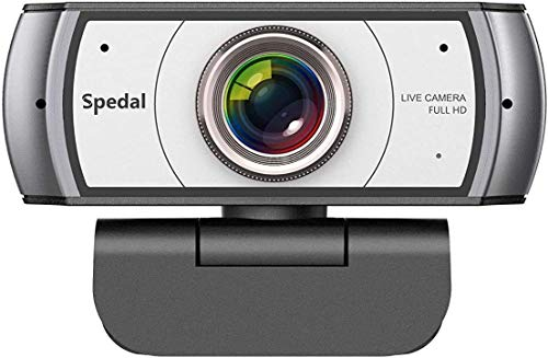 Spedal Full HD Webcam 1080p, Live Streaming Webcam, 120 Grad Ultra Weitwinkel, Computer Laptop Kamera für Xbox OBS XSplit Skype Facebook, kompatibel für Mac OS Windows 10/8/7