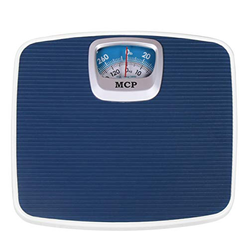 MCP Deluxe Manual Analogue Weighing Scale upto 130 kgs capacity for human body weight machine for home (Mechanical Weighing Machine)- Blue
