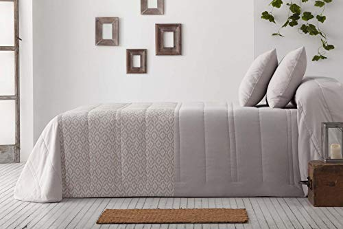 Burrito Weiße Tagesdecke Bouti Bett 150 Grau Tej...