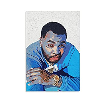 piaoran Kevin Gates Poster Decorative Painting Canvas Wall Art Living Room Posters Bedroom Painting 08×12inch 20×30cm