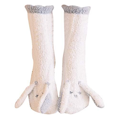 Somerl socken damen strümpfe Winter-Karikatur-warmer Schlaf-Tuch-Boden Coral Velvet Thickening socks,A