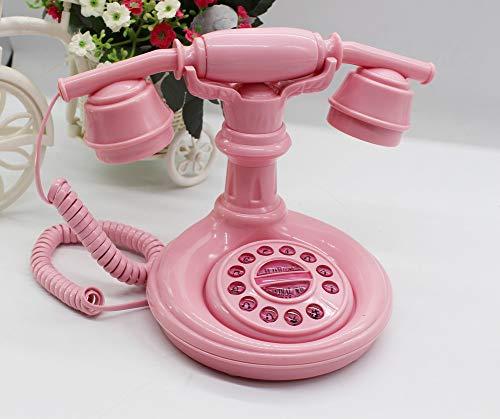 Kreativ Mode Retro-Telefon,Antik Rosa Cute Princess Telefon,Schnurlose festnetz,Telefon Dekorationen-A