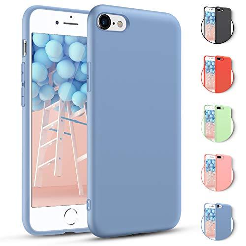 Für iPhone 7 Plus Hülle iPhone 8 Plus Hülle Lavendel Handyhülle Silikon Schutzhülle Case Farben Stoßdämpfend Anti-Fingerabdruck Anti-Scratch für iPhone 8 Plus /7 Plus - Lavendel