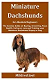 Miniature Dachshunds for Absolute Beginners: The Concise Guide on Buying, Grooming, Food, Health, Caring or care and Training your Miniature Dachshund Puppy or Dog