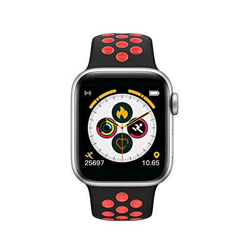 HYP Reloj Inteligente, Monitor de Ritmo cardíaco, rastreador de Ejercicios, podómetro con Pantalla táctil, Reloj Inteligente, podómetro Impermeable IPX67, Compatible con iPhone, Samsung, Android