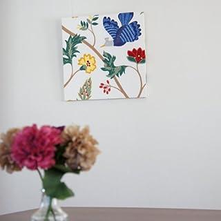ファブリックアートパネル ボラスコットン/boras cotton BIRDLAND【R】/WHITE 500×500mm