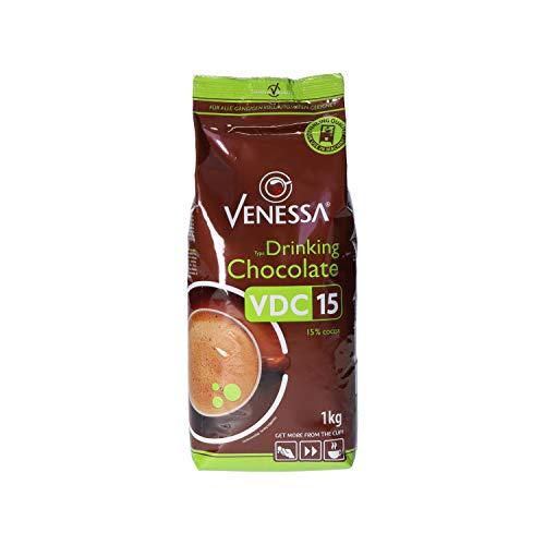 Venessa VDC 15 Trinkschokolade 10 x 1kg Kakao, mit Milchanteilen und leicht süßlichem Geschmack, Enthält 15% feinsten premium Kakao, Aromaschutzbeutel