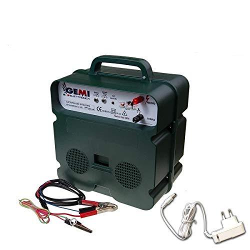 Elettrificatore a doppia alimentazione corrente 220V o batteria 12V Per Recinto Elettrico Recinti...