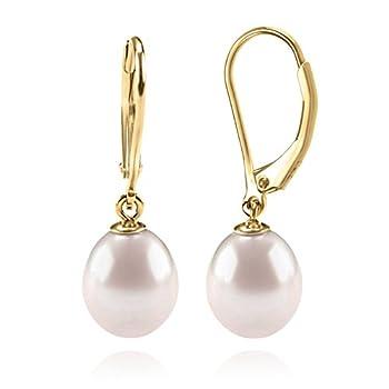 Best pearl drop earrings gold Reviews