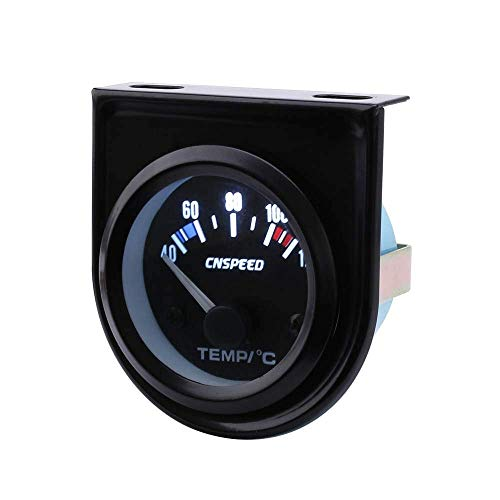 PYROJEWEL 52 mm Temperatura del Agua del Coche de Temperatura Indicador de Metro de la Temperatura del Coche Negro Cara del Panel automático Agua calibrador del Metro fascias