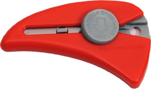NT Cutter Self-Retracting Mini Safety Knife, Red, 1 Knife (Q-100P-R)
