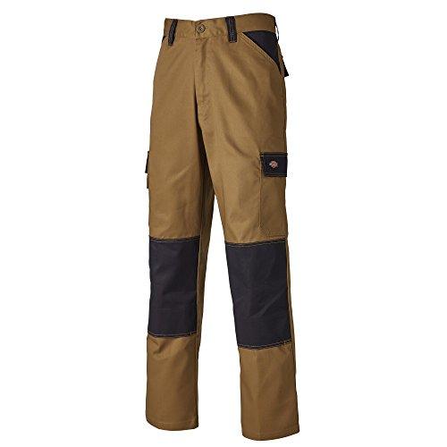 Dickies - Pantalones de Trabajo Resistente Estilo Cargo para Hombre (96 - C) (Caqui/Negro)