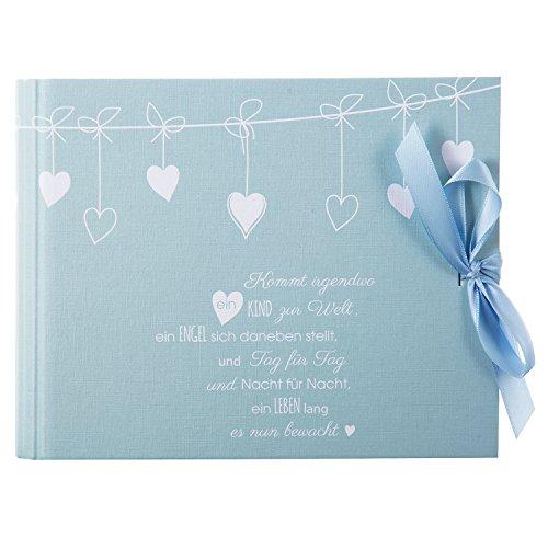Goldbuch baby-fotoboek, Poetry Blue, 24,5 x 19,5 cm, 50 witte pagina's, 2 geïllustreerde pagina's, met verborgen spiraalbinding, linnenstructuur, blauw, 40131