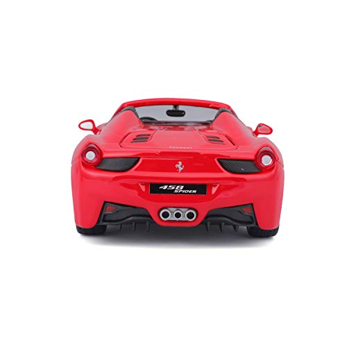 Bburago B18-26017 1:24 Scale Race and Play of The Ferrari 458 Spider Sports Car Die-Cast Model