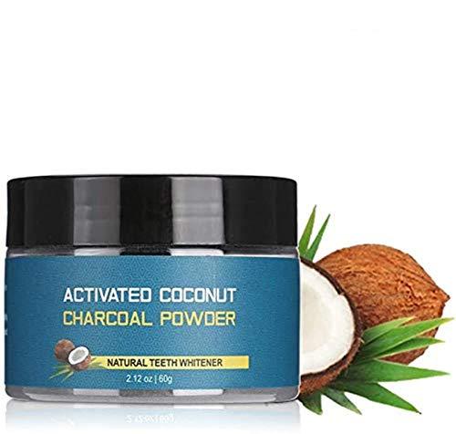 Tooth Whitening Powder, 60g Coconut Shell Activated Charcoal Tooth Whitening Stain Remover Powder Teeth Whitener Gels