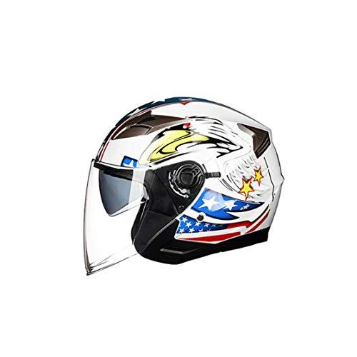 LouiseEvel215 Casco Abierto de Motocicleta Moto Ciclomotor Jet Bobber Piloto Crash Chopper...